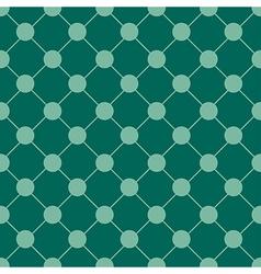 Teal green polka dot chess board grid vector