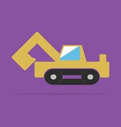 Yellow backhoe vector image