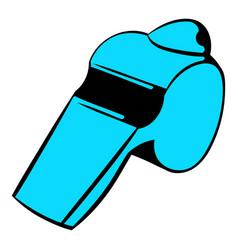 blue whistle icon icon cartoon vector image vector image