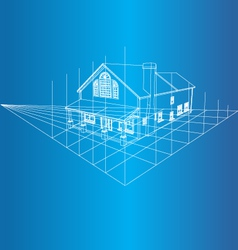 House 3D background vector image vector image