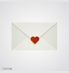 letter with heart on white background vector image