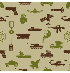 military colors icons theme seamless pattern eps10 vector image vector image