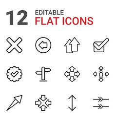 12 right icons vector