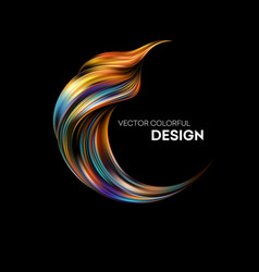 3d abstract colorful fluid design vector