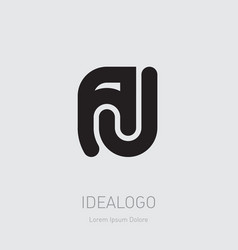 A and j initial logotype aj initial monogram logo vector