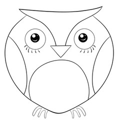Adult coloring bookpage a cute owl image vector