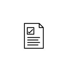 checklist to do list icon vector image