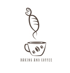 coffee and bakery negative space concept vector image