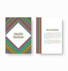 Colorful art with stripes vector
