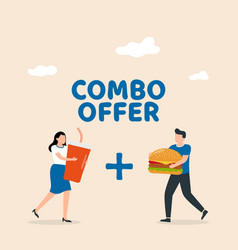 combo offers fast food special offer soda vector image