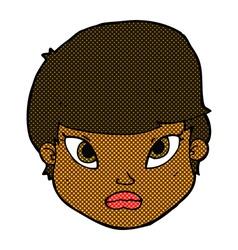 Comic cartoon serious face vector