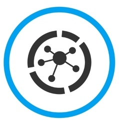 Connections Diagram Circled Icon vector