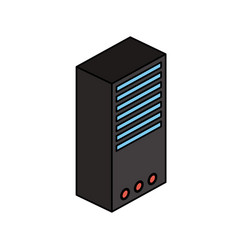 cpu tower icon image vector image