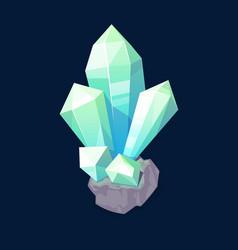 Crystal gem blue magic gemstone isolated icon vector