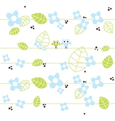 Cute seamless pattern with owls vector
