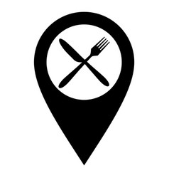 Cutlery and location pin vector