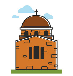Cyprus cathedral or orthodox monastery symbol vector