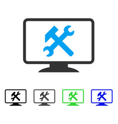Desktop settings flat icon vector
