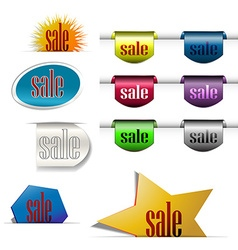Discount labels color group vector