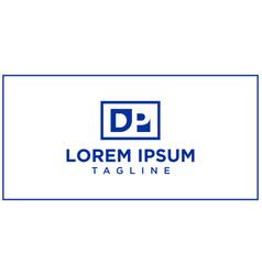 Dp negative space logo vector