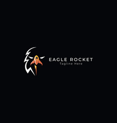 eagle logo design template with rocket eps vector image