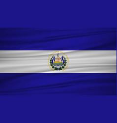 El salvador flag flag of el salvador blowig in vector