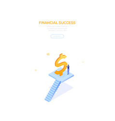 financial success - modern isometric web vector image
