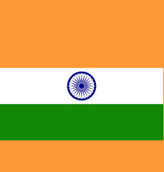 flag india vector image