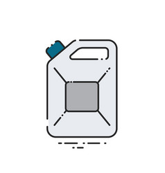 fuel canister vector image