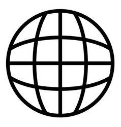 Globalization icon outline style vector