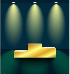 Golden pedestal vector