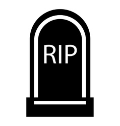 Grave RIP icon simple style vector
