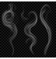 Gray smoke vector image