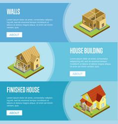 House framework isometric 3d concept vector