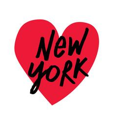 i love new york brush script lettering vector image