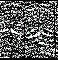 ink hand drawn botanical seamless pattern black vector image