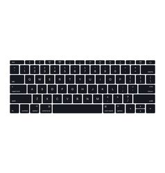 Isolated laptop keyboard vector image