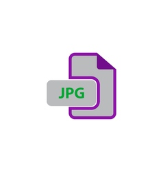 JPEG Icon vector image