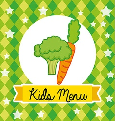 Kids menu vector
