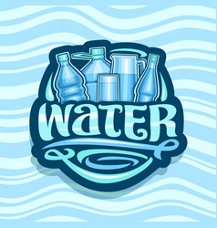 Logo for drinking water vector