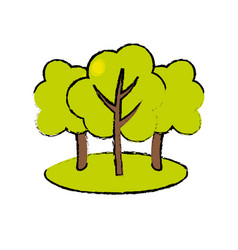 Natural trees with branches to ecology care vector