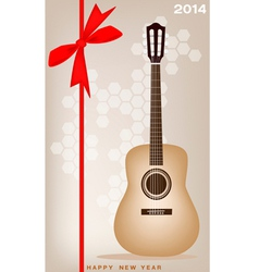 New Year Gift Card of A Classical Guitar vector image