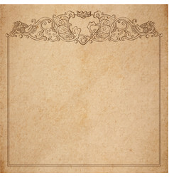 paper cardboard with vintage frame vector image