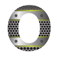 Perforated metal letter O vector