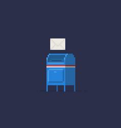 Pixel art mailbox vector