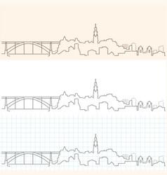 porto hand drawn skyline vector image