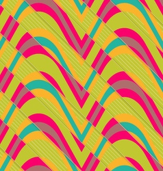 Retro 3D bulging waves diagonally cut vector
