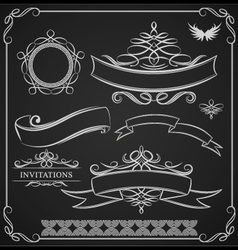 Ribbon-ornamental vector
