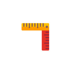 ruler icon flat element of vector image