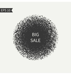 Sale sign Black and white design element Round vector